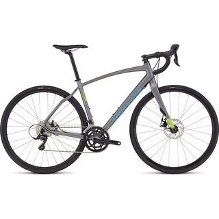 Specialized Diverge Sport A1 CEN 2017, grey/hy green/cyan - Gravelbike