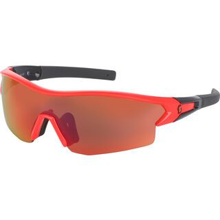 Scott Leap + Spare Lens, neon red glossy/black red chrome - Sportbrille