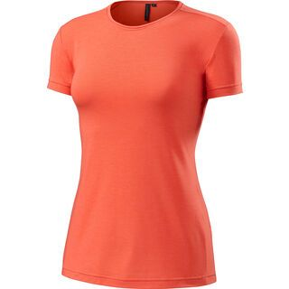 Specialized Women's Utility Merino Crew SS, coral heather - Funktionsshirt