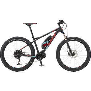 GT ePantera Bolt 2019, black w/ red & turquoise - E-Bike