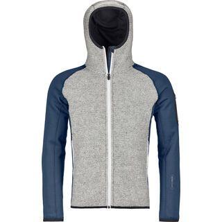 Ortovox Merino Fleece Plus Classic Knit Hoody M, night blue - Fleecejacke