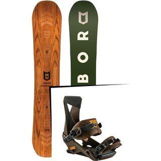 Set: Arbor Formula Premium 2017 + Nitro Zero 2017, root beer - Snowboardset