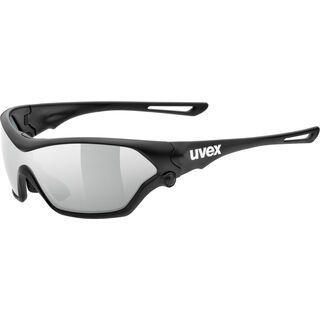 uvex sportstyle 705 inkl. Wechselscheibe, black mat/Lens: litemirror silver - Sportbrille
