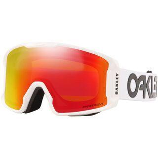 Oakley Line Miner XM Prizm Factory Pilot, white/Lens: torch iridium - Skibrille