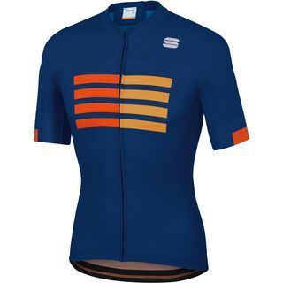 Sportful Wire Jersey blue twilight/fire red/gold