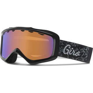 Giro Charm, black filigree/persimmon boost - Skibrille