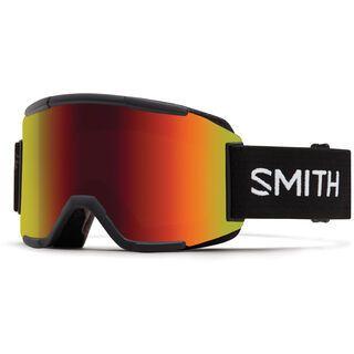 Smith Squad inkl. Wechselscheibe, black/Lens: red sol-x mirror - Skibrille