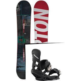 Set: Burton Process 2015 + Burton Mission EST 2017, black - Snowboardset