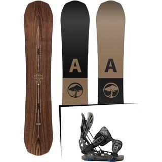 Set: Arbor Element Premium 2017 + Flow NX2-GT 2017, black - Snowboardset