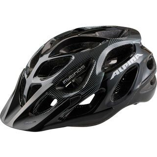 Alpina Mythos 2.0, black white lines - Fahrradhelm