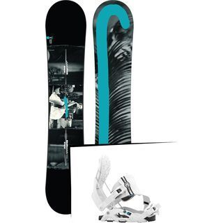 Set: Burton Custom Twin Flying V 2017 + Flow Nexus Hybrid (1513172S)