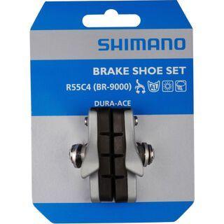 Shimano R55C4 Bremsschuh Cartridge für BR-5800 f. Alufelge, silber - Bremsbelag