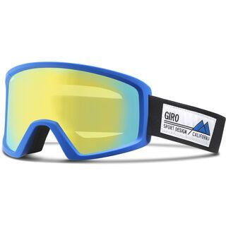Giro Blok, blue frame pop/loden yellow - Skibrille