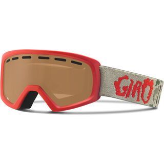 Giro Rev, glowing red camo/amber rose - Skibrille