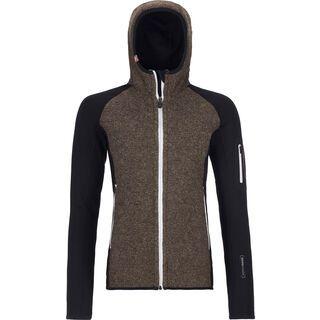 Ortovox Merino Fleece Plus Classic Knit Hoody W, black raven - Fleecehoody