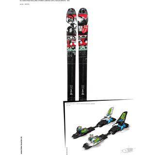 K2 SKI Set: Sidestash Rolling Stones Limited 2013 + Marker Squire Schizo 11