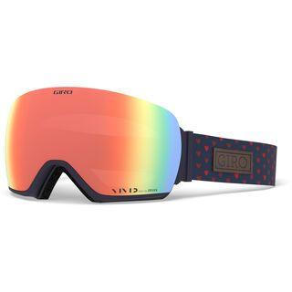 Giro Lusi inkl. WS, hearts/Lens: vivid ember - Skibrille