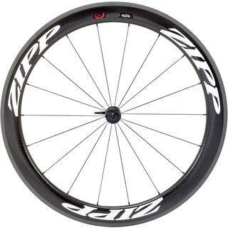 Zipp 404 Firecrest Carbon Clincher, schwarz/mattweisse Aufkleber - Vorderrad