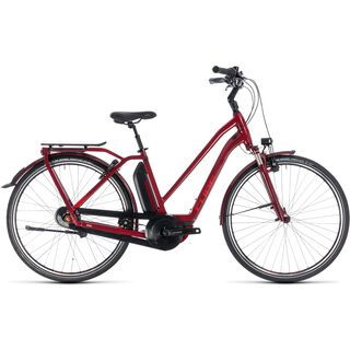 Cube Town Hybrid Pro 400 Trapeze 2018, darkred´n´red - E-Bike