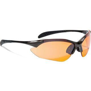 Alpina Tri-Quatox inkl. Wechselscheibe, tin/Lens: ceramic mirror orange - Sportbrille
