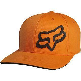 Fox Signature Flexfit Hat, Orange - Cap