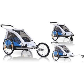 XLC Kinderanhänger Duo / 3-in-One, silber/blau