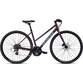 Specialized Women's Sirrus Disc Step-Through 2019, berry/mint - Fitnessbike