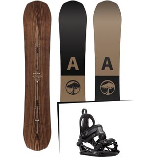 Set: Arbor Element Premium Mid Wide 2017 + K2 Cinch CTC 2017, black - Snowboardset