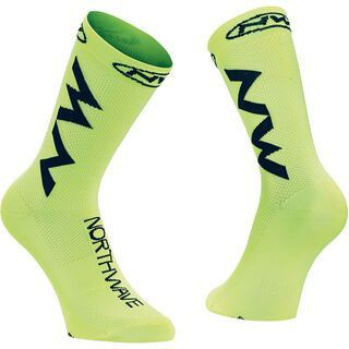 Northwave Extreme Air Sock, yellow fluo/black - Radsocken