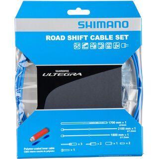Shimano Schaltzug-Set Ultegra Polymer beschichtet, blau