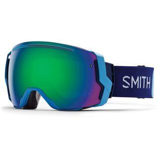 Smith I/O 7 + Spare Lens, bobby line/green sol-x mirror - Skibrille