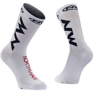 Northwave Extreme Air Socks, white/black/red - Radsocken