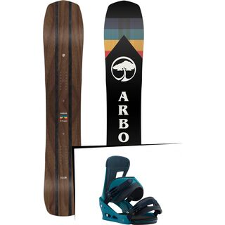 Set: Arbor A-Frame 2019 + Burton Freestyle mariner green