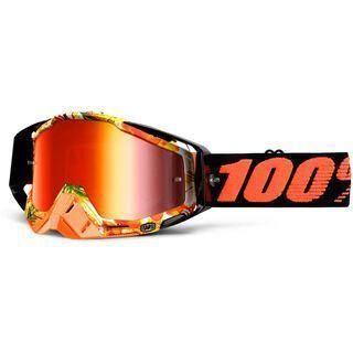 100% Racecraft inkl. Wechselscheibe, paradise/Lens: mirror red - MX Brille