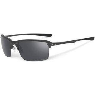 Oakley Wiretap, Matte Black/Black Iridium Polarized - Sonnenbrille