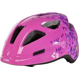 Cube Helm Pro Junior, pink triangles - Fahrradhelm