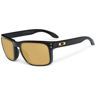 Oakley Holbrook Shaun White Gold Series, Polished Black/24K Gold Iridium - Sonnenbrille
