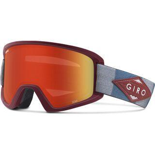 Giro Semi inkl. Wechselscheibe, maroon/titanium mountain division/Lens: amber scarlett - Skibrille