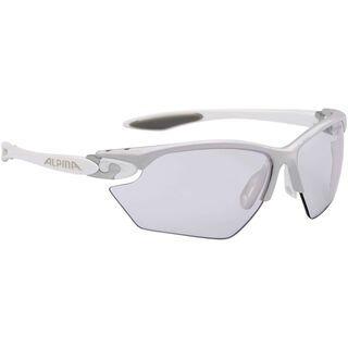 Alpina Twist Four S VLM+, silver white/Lens: varioflex+ mirror blue - Sportbrille