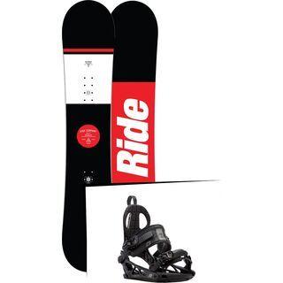 Set: Ride Agenda 2017 + K2 Cinch CTC 2017, black - Snowboardset