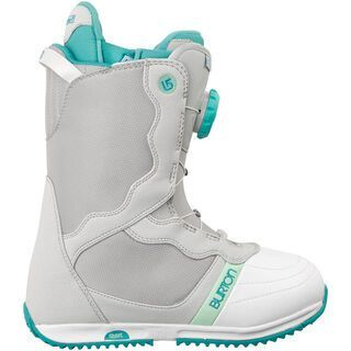Burton Bootique, Gray/White/Teal - Snowboardschuhe
