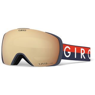Giro Contact inkl. WS, midnight red/Lens: vivid copper - Skibrille