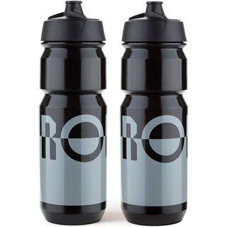 Rondo Bidon 2 x 750 ml Set, grey/black - Trinkflasche