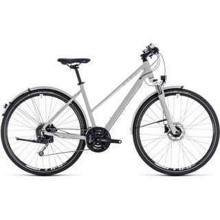 Cube Nature Pro Allroad Trapeze 2018, grey´n´white - Fitnessbike