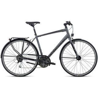 Specialized Source Sport 2014, Graphite/Black/Hyper Green - Trekkingrad