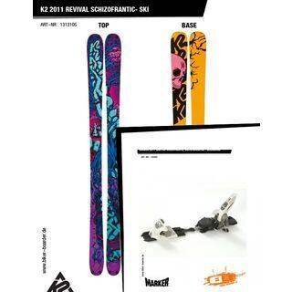 K2 SKI Set: Revival SchizoFrantic 2011 + Marker Griffon SchizoFrantic