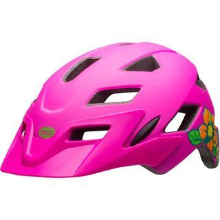 Bell Sidetrack Youth, pink/lime - Fahrradhelm
