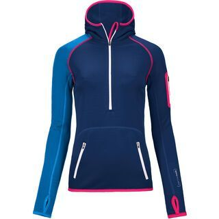 Ortovox Fleece Merino Zip Neck Hoody, strong blue - Fleecehoody
