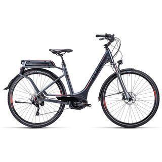 Cube Touring Hybrid Pro Easy Entry 2015, anthrazit black red - E-Bike