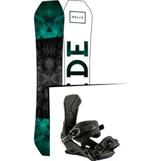 Set: Ride Helix 2017 + Nitro Team 2017, black - Snowboardset